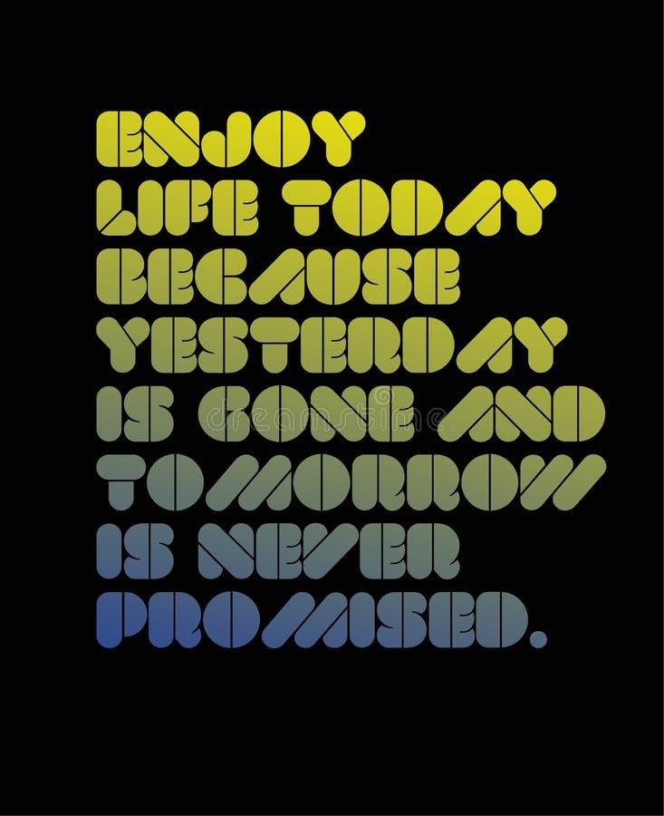 由于昨天去和从未明天被许诺刺激行情,今天享有生活 库存例证