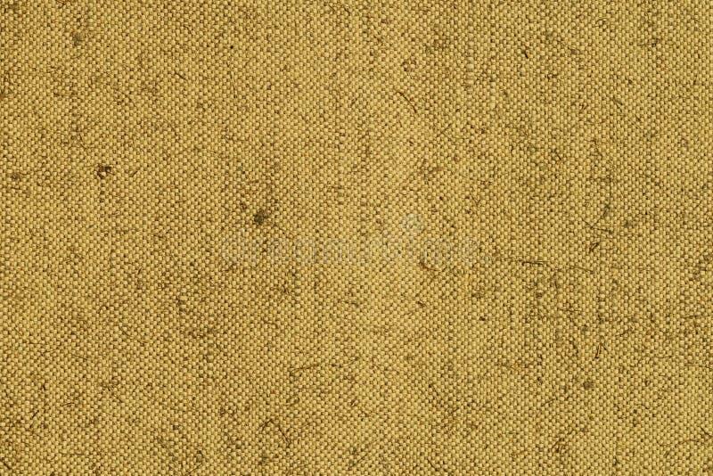 由亚麻制纤维做的粗糙的天然纤维纹理  图库摄影