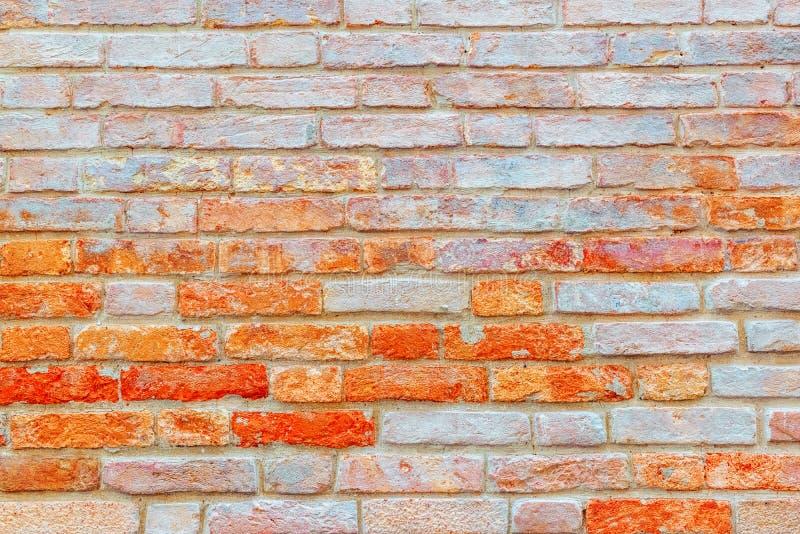 由做的砖墙的纹理老红砖 图片达 免版税库存照片
