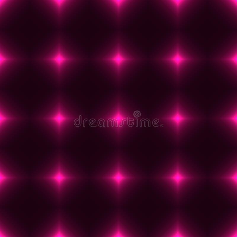 由光亮的十字架做的桃红色网-无缝的样式 皇族释放例证