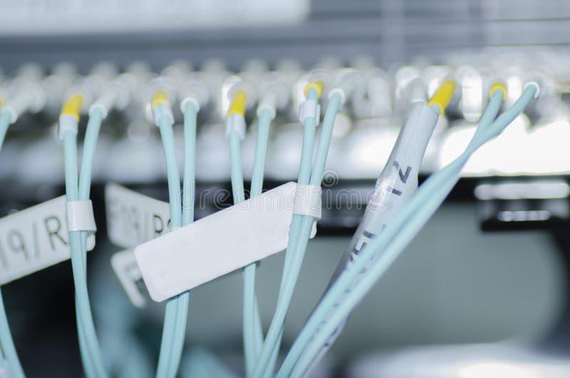 由光纤的数据传送在核心网络转接 有选择性 免版税图库摄影