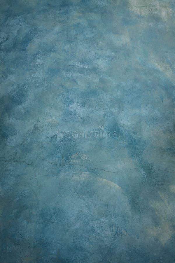 由刷子纹理技术用途的蓝色水泥壁画ar的 库存图片