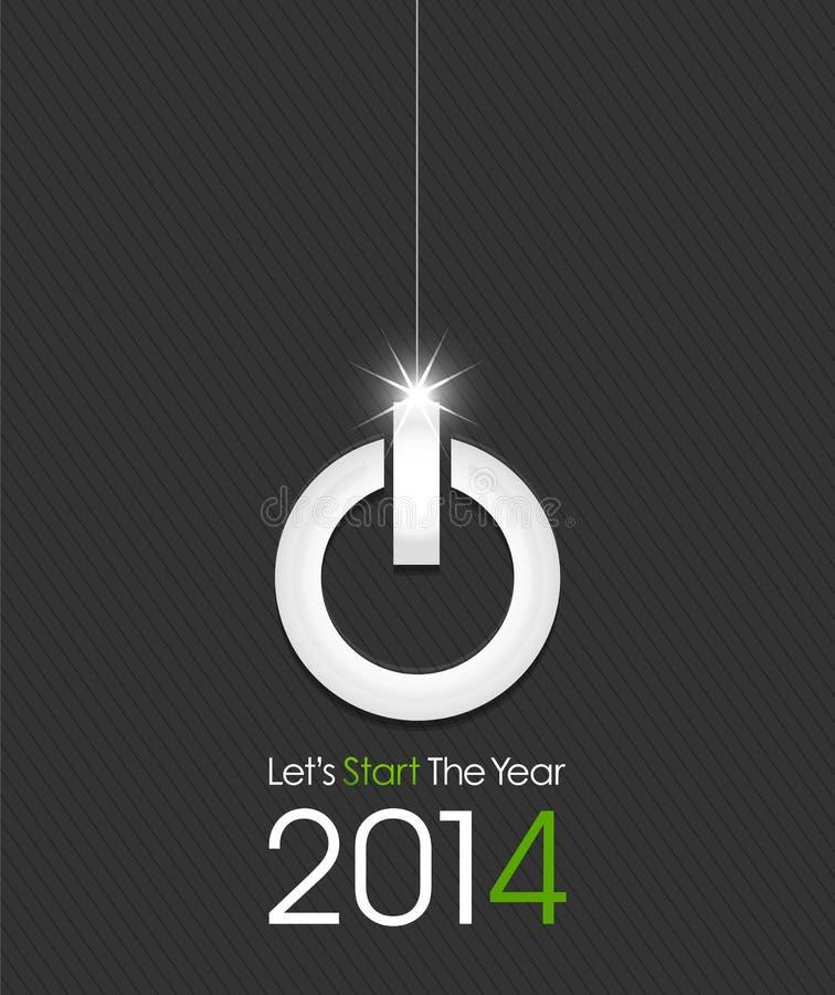2014年由力量按钮做的圣诞节球 向量例证
