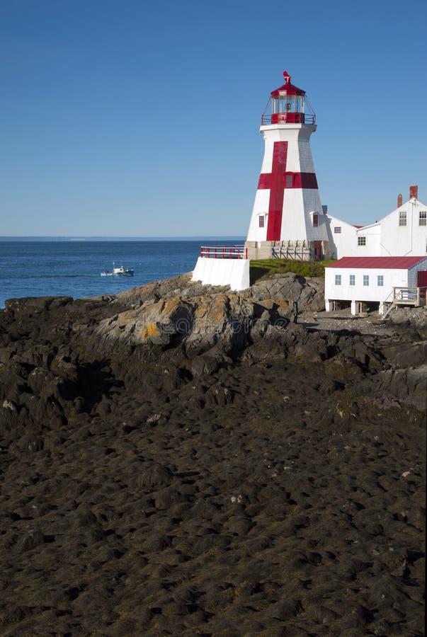 由加拿大灯塔的最低的潮 免版税库存照片