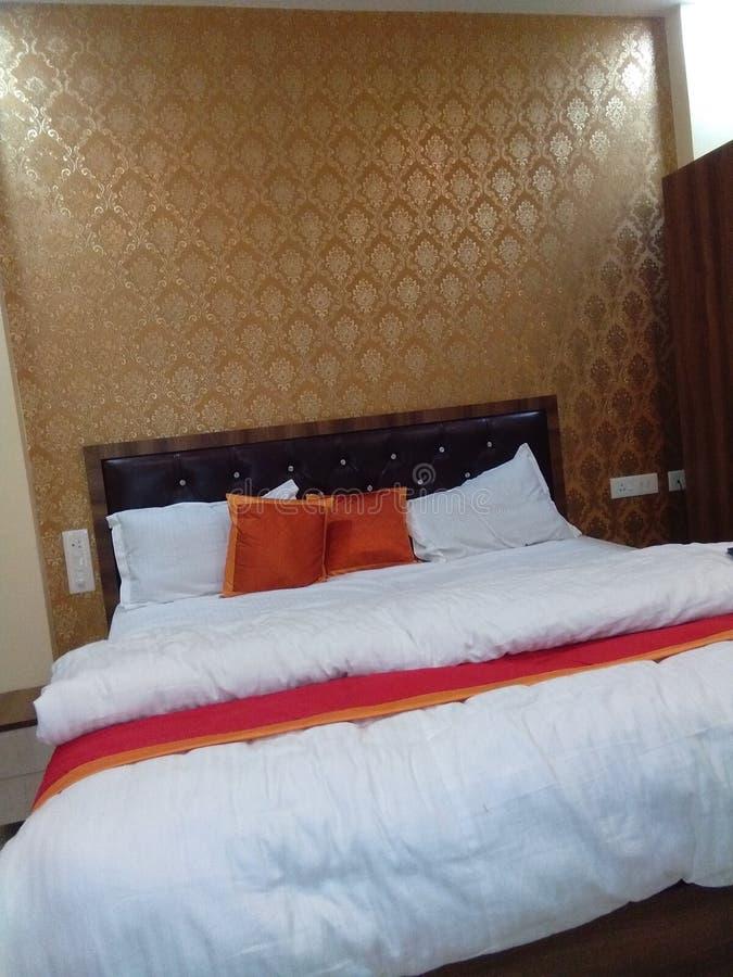 由印度人的酒店房间 图库摄影