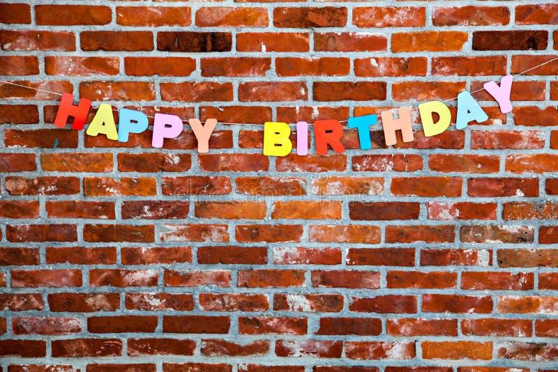 由各自的信件的祝贺生日快乐 免版税图库摄影
