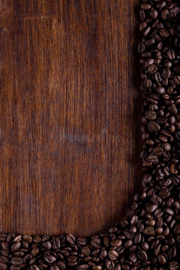 由咖啡豆做的框架 免版税图库摄影