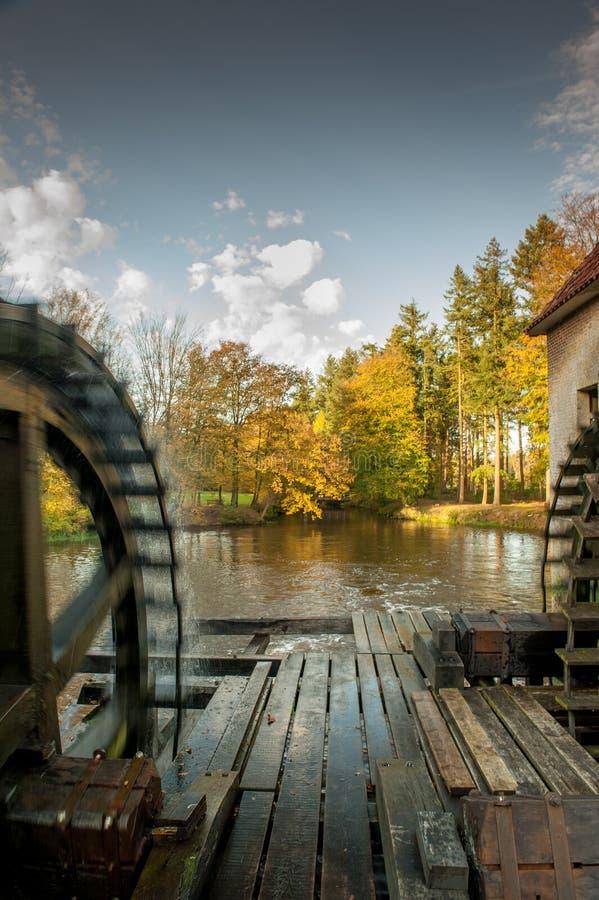 由城堡Singraven的Watermolen Denekamp 免版税库存图片