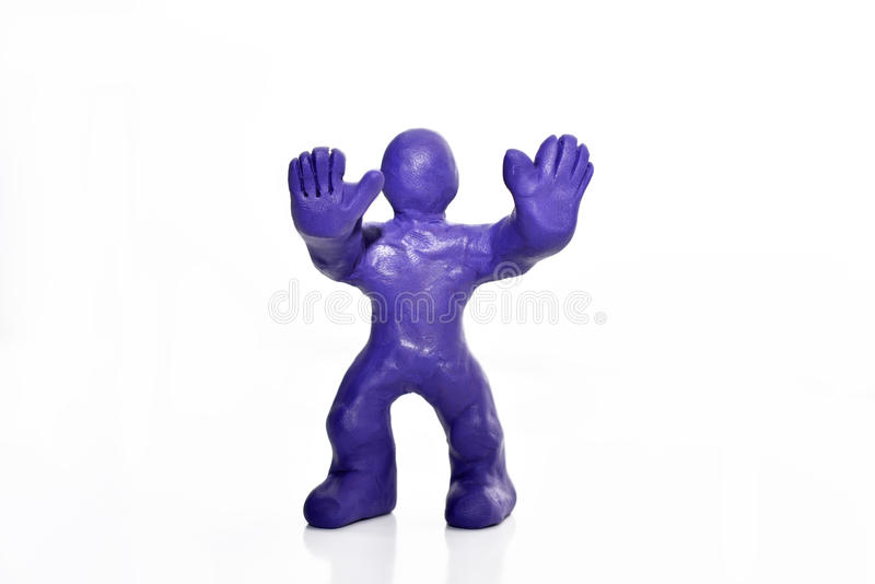 由彩色塑泥做的人形象 库存例证