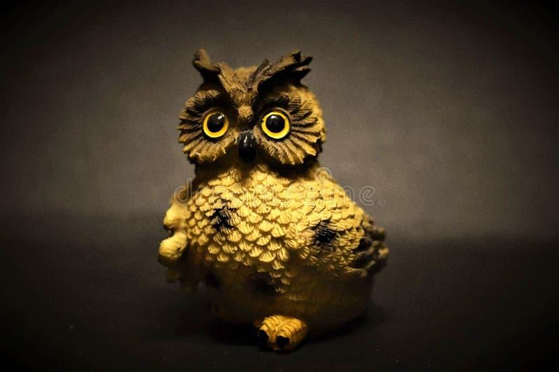 由我的母亲的美丽的手工制造猫头鹰 库存图片