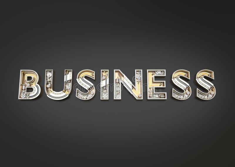 由技工字母表做的企业词 库存例证