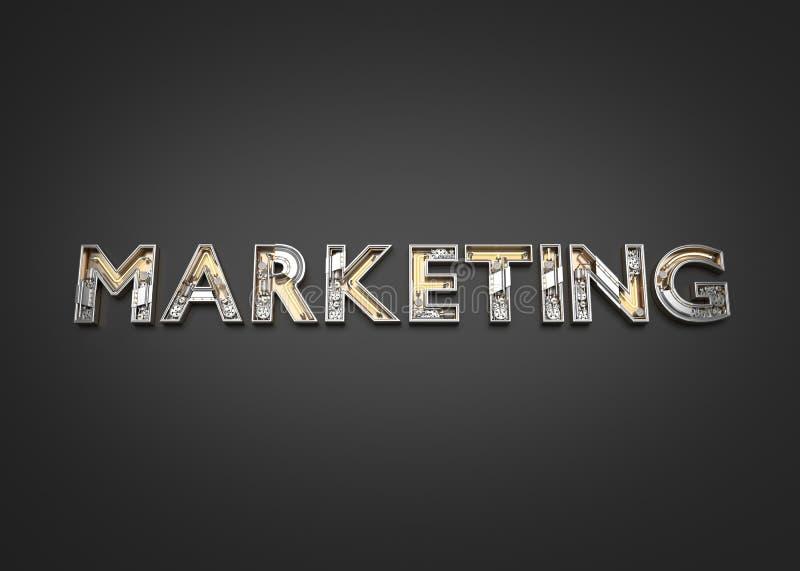 由技工字母表做的营销词 向量例证