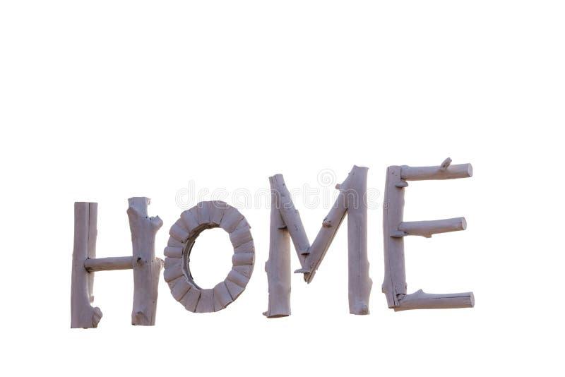 由木头做的标志是在白色背景的字母表 库存照片