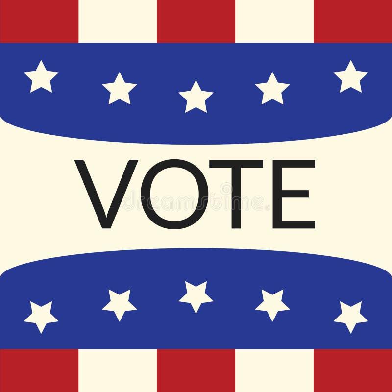 由样式表决的投票的概念下垂美国 库存例证
