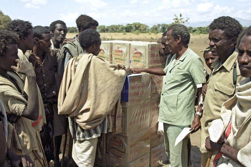 由气候变化的威胁的饥荒在埃塞俄比亚 库存照片