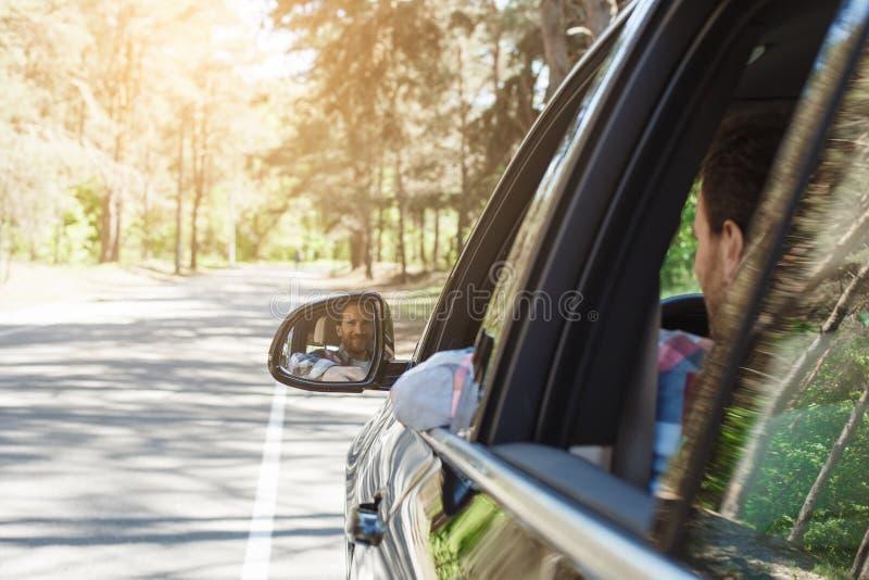 由汽车家庭旅行的旅行一起假期 免版税图库摄影