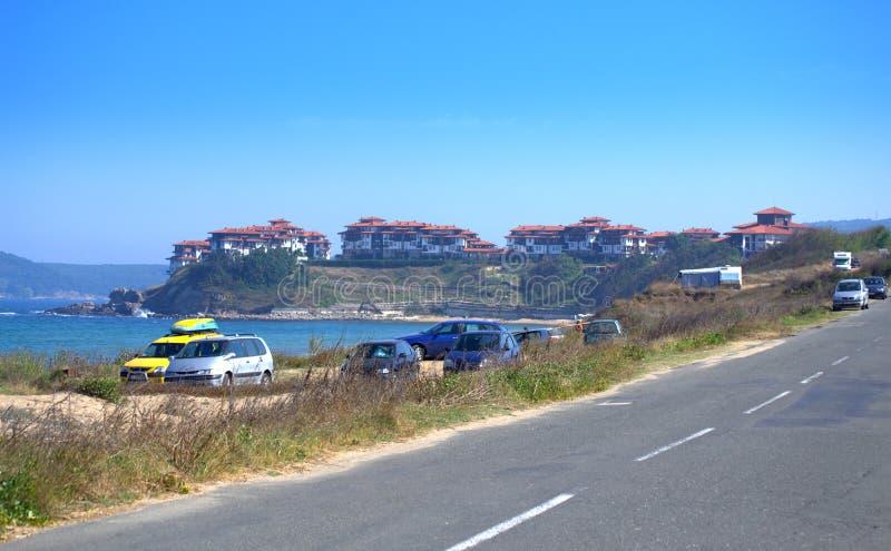 由沙丘海滩,保加利亚的沿海路 免版税库存图片