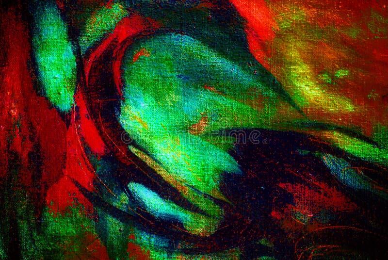 由油的抽象混乱绘画在帆布,例证, backg 向量例证