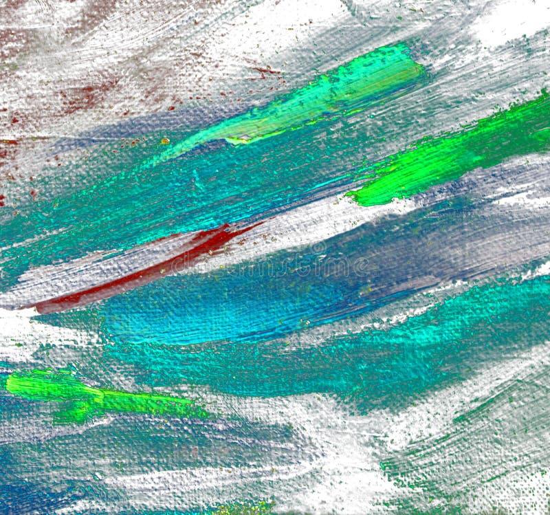 由油的抽象混乱绘画在帆布,例证, backg 免版税库存图片