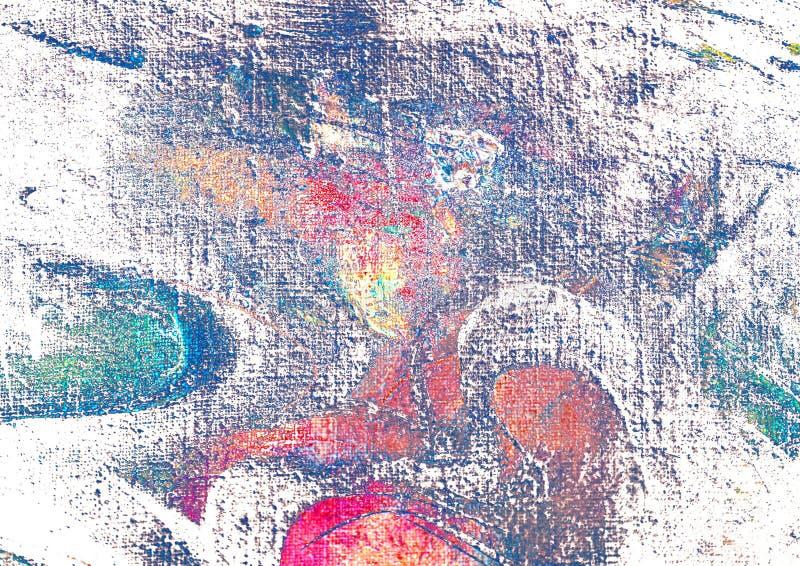 由油的抽象绘画在帆布,例证 皇族释放例证