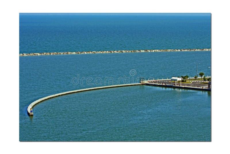 由海湾的海湾 免版税图库摄影