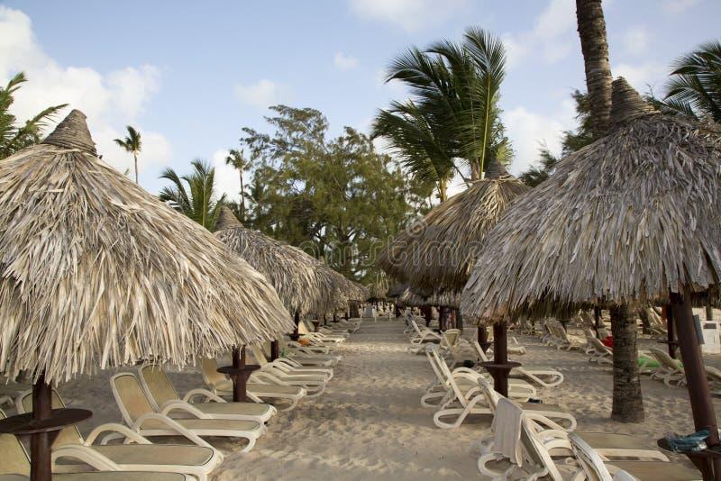 由海的假期在多米尼加共和国 库存照片