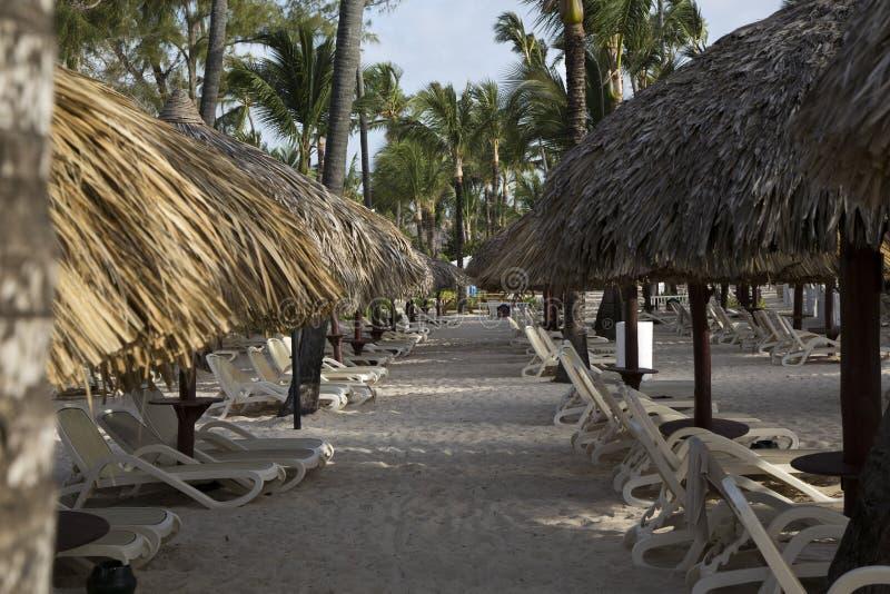 由海的假期在多米尼加共和国 免版税库存照片