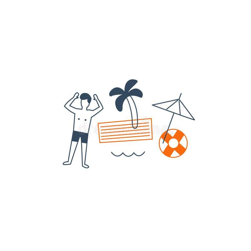 由海的假期 向量例证