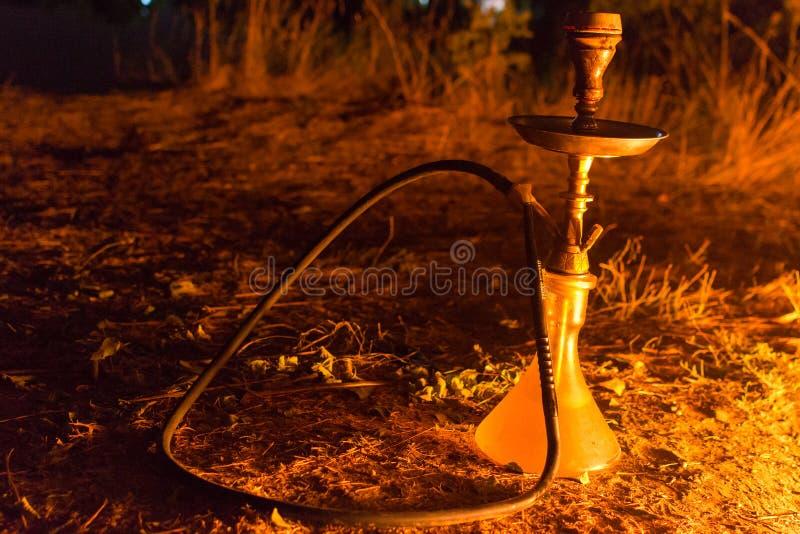 由火的水烟筒 免版税库存照片