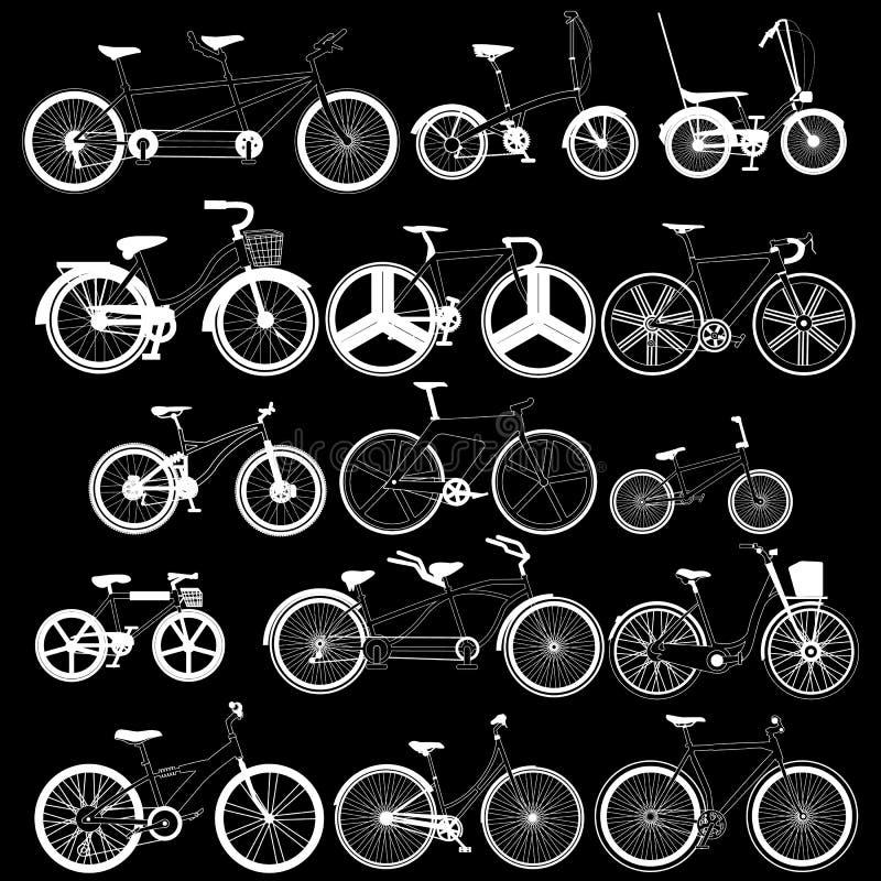 由白色条纹线的自行车象 库存例证
