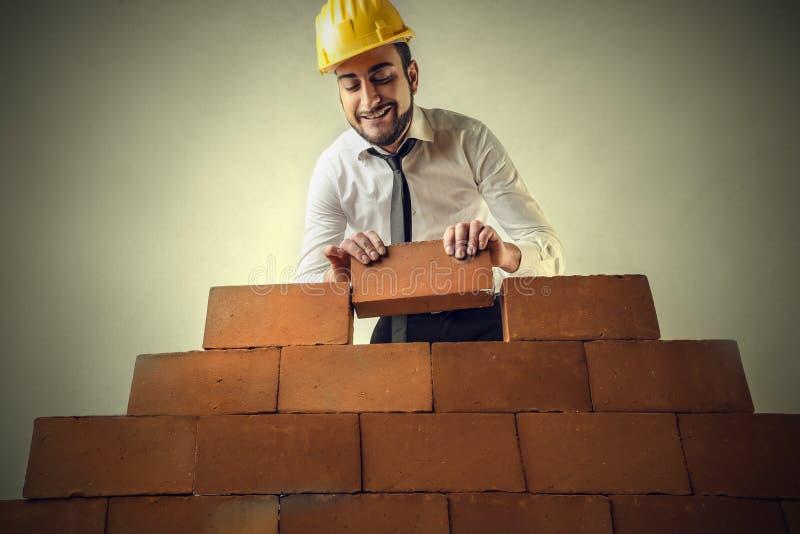由砖的砖 免版税图库摄影