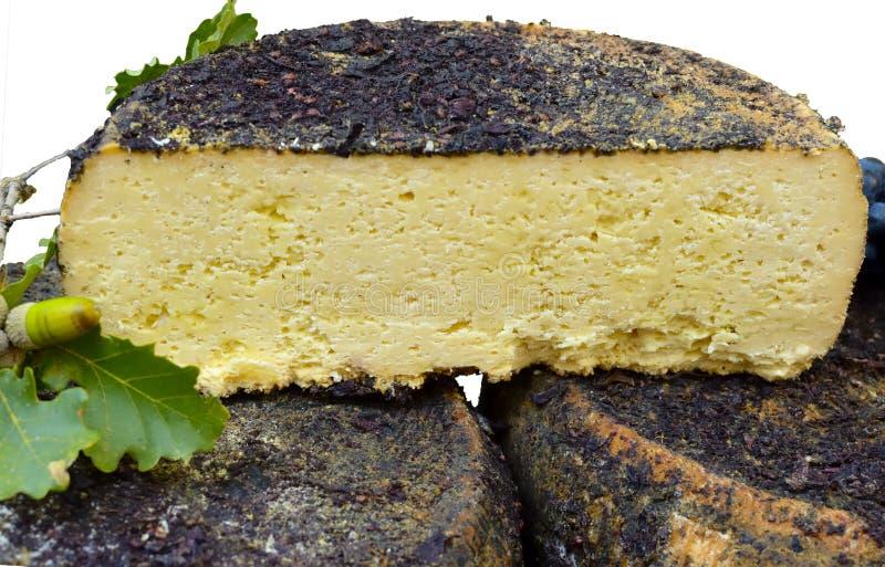 由羊奶做的pecorino乳酪 免版税库存照片