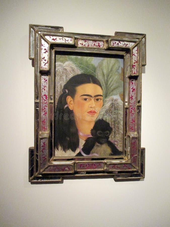 由芙烈达・卡萝的壮观的自画象在拉丁美洲的艺术Malba博物馆陈列了在布宜诺斯艾利斯阿根廷 免版税库存图片