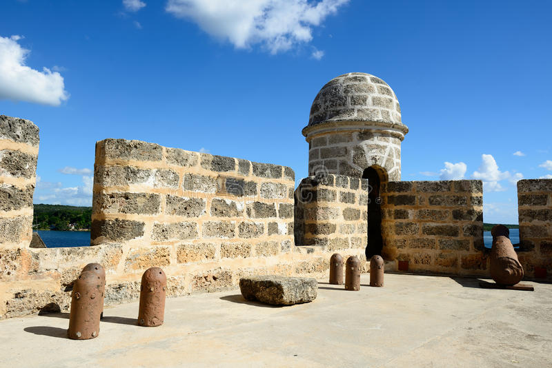 由西恩富戈斯市的Jagua堡垒古巴的 免版税库存图片