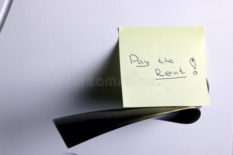 由门薪水租的笔记 库存照片