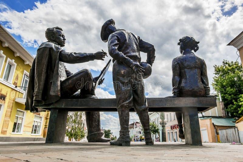 由雕刻家Alexandr Taratynov的尼基塔・米亥科夫纪念碑在Yele 库存图片