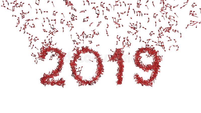 由音符2019做的新年 库存照片