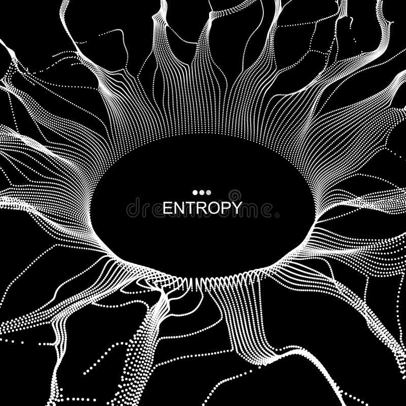 由飞行微粒做的黑洞 抽象背景 库存例证
