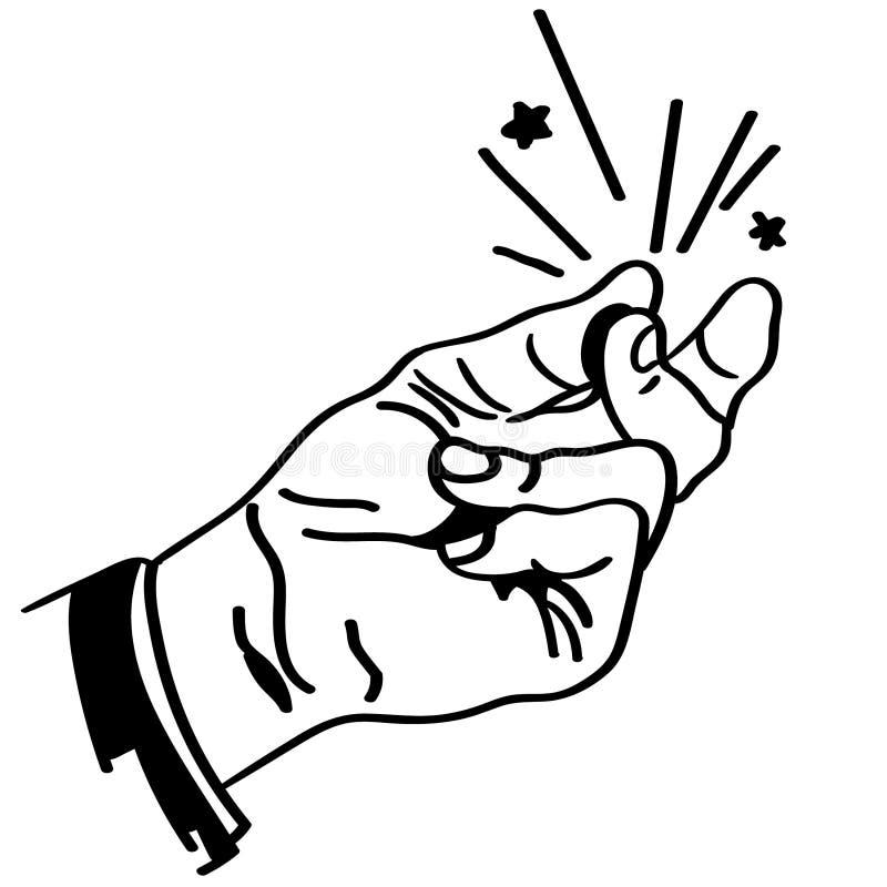 由crafteroks的手指短冷期传染媒介例证 皇族释放例证