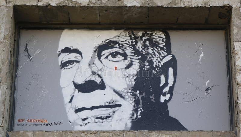 由Jef湿剂的墙壁上的艺术在乌斯怀亚,阿根廷 库存图片