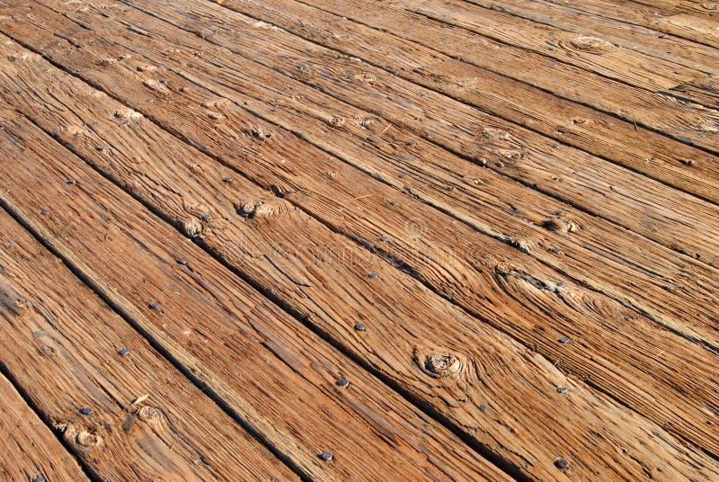 甲板木头 库存照片