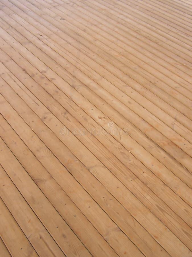 甲板木头 库存图片