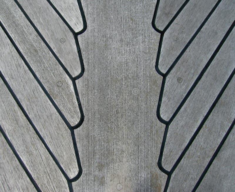 甲板柚木树 图库摄影
