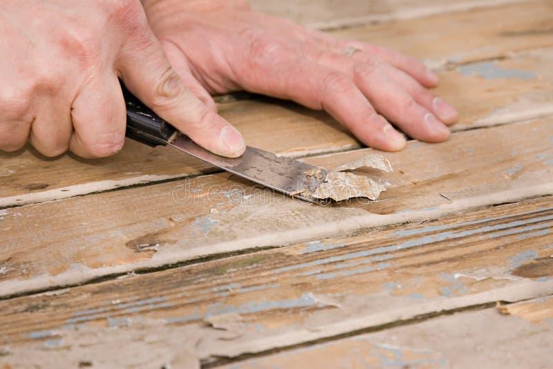 甲板油漆刮 免版税库存图片