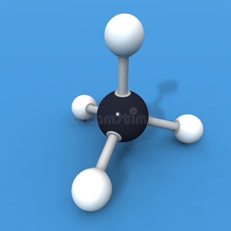 甲烷分子 向量例证