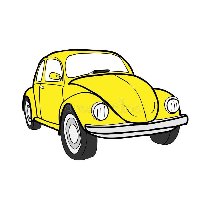 甲虫汽车 库存例证