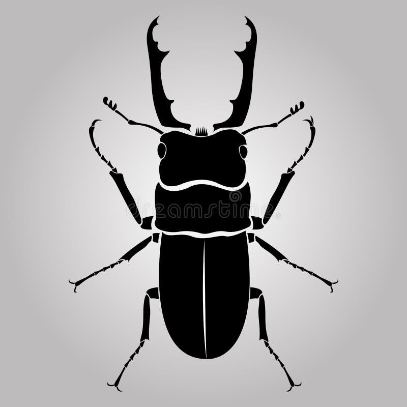 甲虫男雄鹿 库存例证