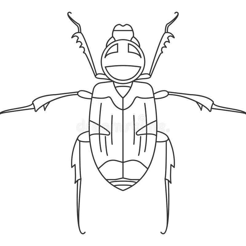 甲虫象 简单的元素例证 甲虫从昆虫汇集集合的标志设计 能用于网和机动性 库存例证