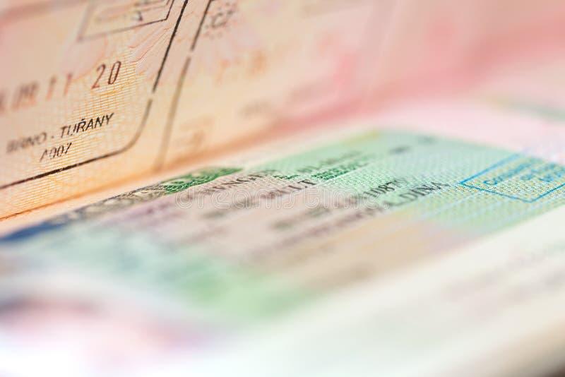 申根签证 图库摄影