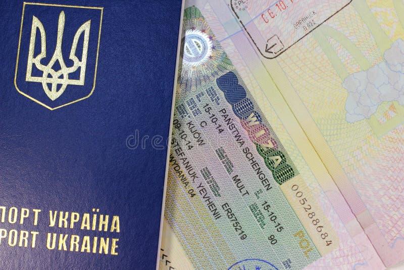 申根签证 库存照片